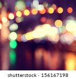 city lights blurred bokeh...   Shutterstock . vector #156167198
