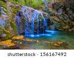 beautiful closeup waterfall | Shutterstock . vector #156167492