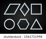 glowing geometrical figures ...   Shutterstock .eps vector #1561721998