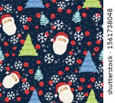 Seamless Pattern With The Face...