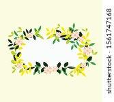 flower frame background design... | Shutterstock .eps vector #1561747168