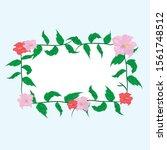 flower frame background design  ... | Shutterstock .eps vector #1561748512