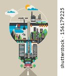 city in a bulb  vector... | Shutterstock .eps vector #156179225