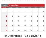 november 2014 planning calendar | Shutterstock .eps vector #156182645