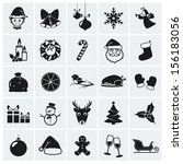 collection of 25 christmas... | Shutterstock .eps vector #156183056