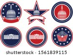 american patriotic red  white... | Shutterstock .eps vector #1561839115