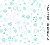 seamless pattern from christmas ... | Shutterstock . vector #156184982