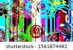 festive decoration. colorful... | Shutterstock . vector #1561874482