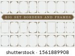 big set of frames and borders | Shutterstock .eps vector #1561889908