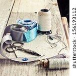 scrapbooking craft materials ... | Shutterstock . vector #156193112