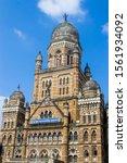 Small photo of Mumbai India Nov 9th 2019: The Municipal Corporation Building, Mumbai, located in South Mumbai is a Grade IIA heritage building opposite to the Chhatrapati Shivaji Terminus, one of list of heritage.