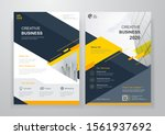 corporate business cover and...   Shutterstock .eps vector #1561937692