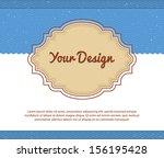 vector illustration of your... | Shutterstock .eps vector #156195428