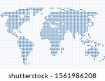vector abstract world map with... | Shutterstock .eps vector #1561986208