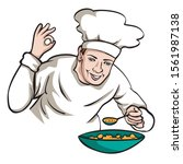 illustration of chef and... | Shutterstock .eps vector #1561987138