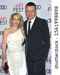 Small photo of LOS ANGELES - NOV 16: Gillian Anderson and Peter Morgan arrives for the AFI Fest 'The Crown' Gala Screening on November 16, 2019 in Hollywood, CA