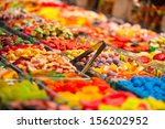 Market Stall Full Of Candys In...