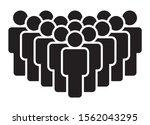 crowd of people  big team or...   Shutterstock .eps vector #1562043295