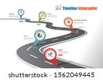 business road map timeline... | Shutterstock .eps vector #1562049445