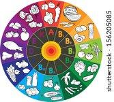 vector illustration of vitamin... | Shutterstock .eps vector #156205085