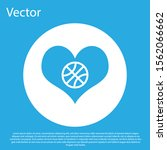 blue heart with basketball ball ... | Shutterstock .eps vector #1562066662