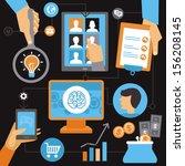 vector freelance work progress  ... | Shutterstock .eps vector #156208145