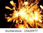 christmas celebration sparklers | Shutterstock . vector #15620977
