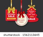 set of realistic red christmas...   Shutterstock .eps vector #1562113645