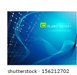 technical blue abstract... | Shutterstock .eps vector #156212702