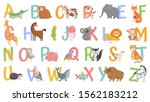 cartoon animals alphabet for... | Shutterstock .eps vector #1562183212