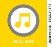 vector musical note symbol  ... | Shutterstock .eps vector #1562194678