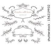 elegant floral elements with...   Shutterstock .eps vector #156219932
