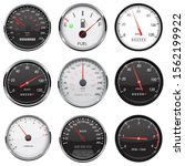 car dashboard gauges. with... | Shutterstock . vector #1562199922