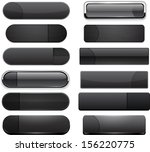 set of blank black buttons for... | Shutterstock .eps vector #156220775