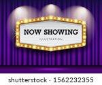 cinema theater purple curtains... | Shutterstock .eps vector #1562232355