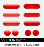 set of red buttons | Shutterstock .eps vector #156226886