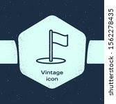 grunge line flag icon isolated...