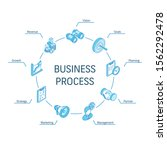 business process isometric...   Shutterstock .eps vector #1562292478
