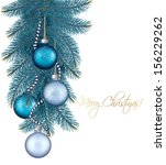 christmas background with balls ...   Shutterstock .eps vector #156229262