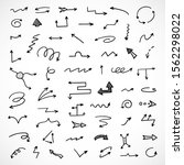 vector set of hand drawn arrows | Shutterstock .eps vector #1562298022