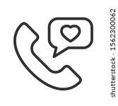 romantic phone call outline... | Shutterstock .eps vector #1562300062