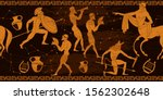 ancient greece horizontal... | Shutterstock .eps vector #1562302648