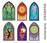 set of different beautiful... | Shutterstock .eps vector #1562305435