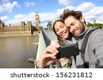 london tourist couple taking... | Shutterstock . vector #156231812