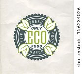vintage eco green sticker label ... | Shutterstock .eps vector #156234026