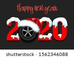 snowy new year numbers 2020 and ... | Shutterstock .eps vector #1562346088
