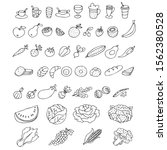 set of graphic elements. hand... | Shutterstock .eps vector #1562380528