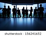 several colleagues outlines... | Shutterstock . vector #156241652