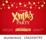 christmas party poster template.... | Shutterstock .eps vector #1562434795