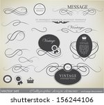calligraphic design elements... | Shutterstock .eps vector #156244106